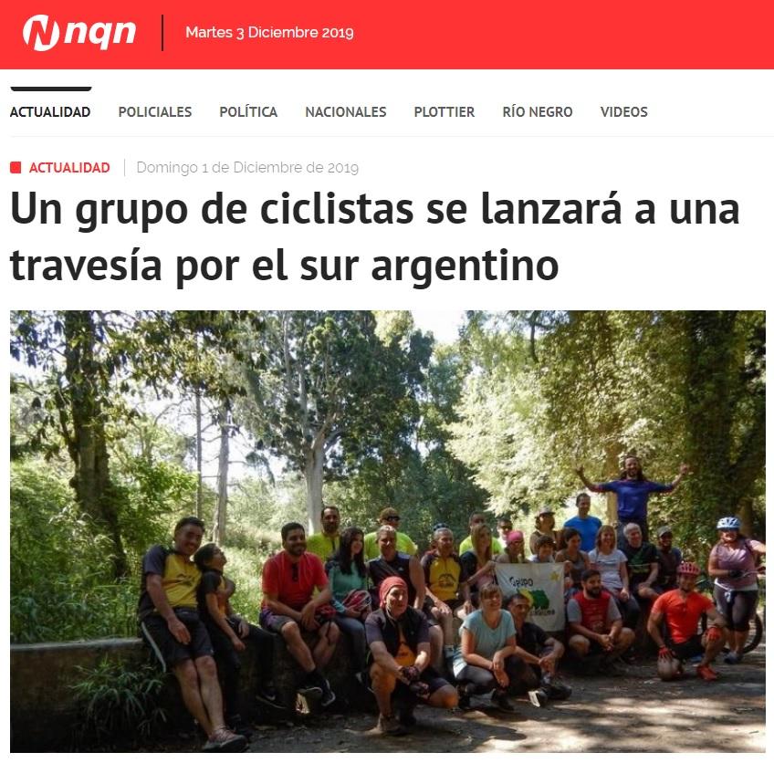 NQN | Un grupo de ciclistas se lanzará